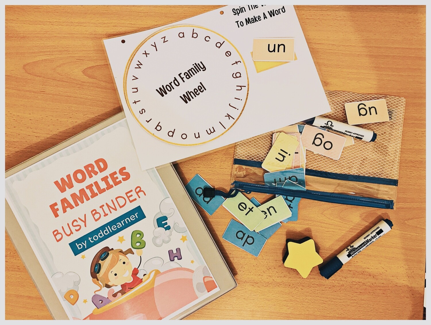 Word Families Busy Binder for kids