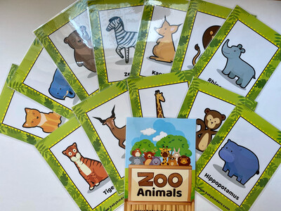 Animals Flash Cards Bundle (Farm | Zoo | Sea)