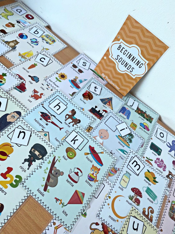 Beginning Letter Sounds Flash Cards