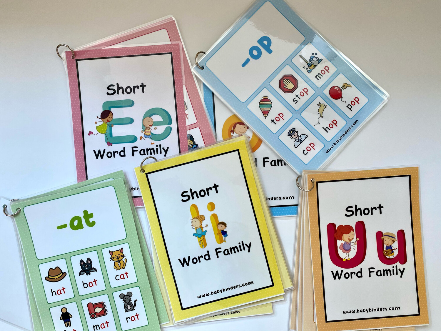 Short Vowel Word Families Cards