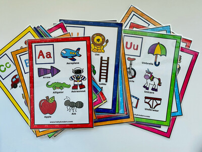 ABC Letters Flash Cards