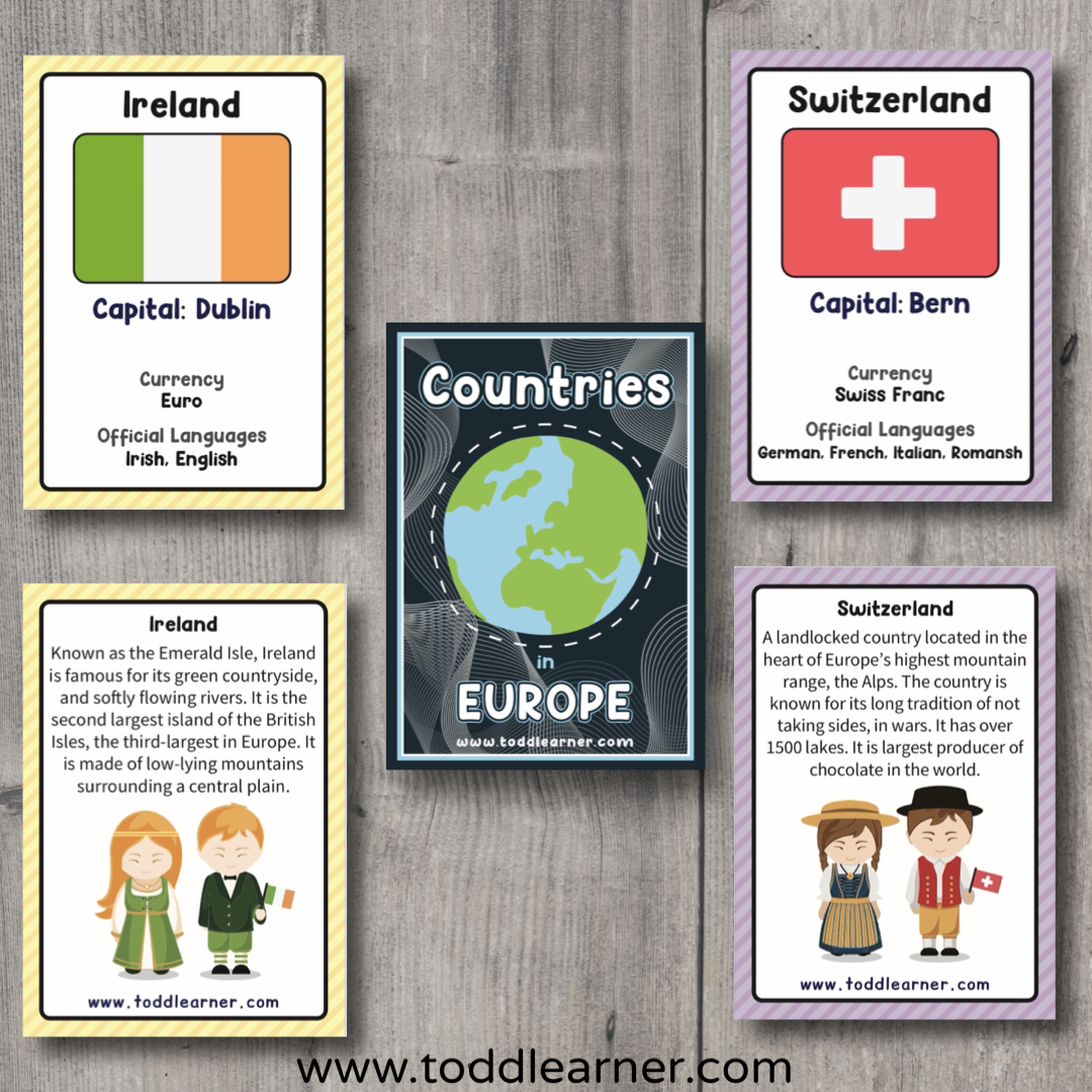 Countries Flash Cards-Europe