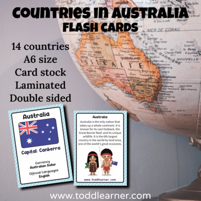Countries Flash Cards-Australia