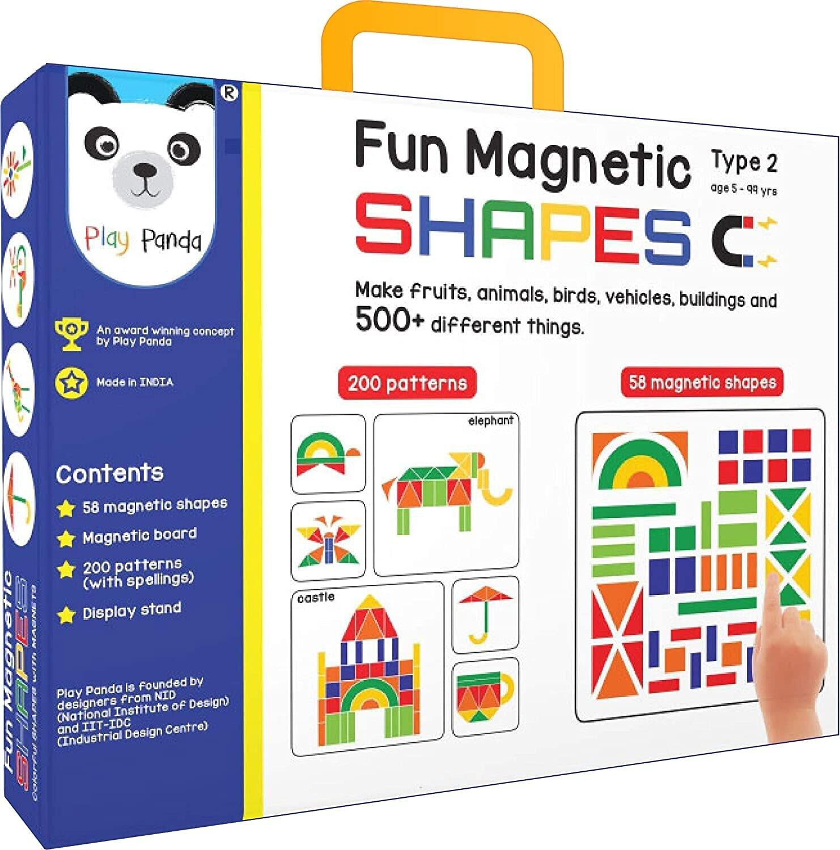 PLAY PANDA Fun Magnetic Shapes (Junior): Type 2