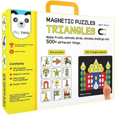 Play Panda Magnetic Puzzles : Triangles