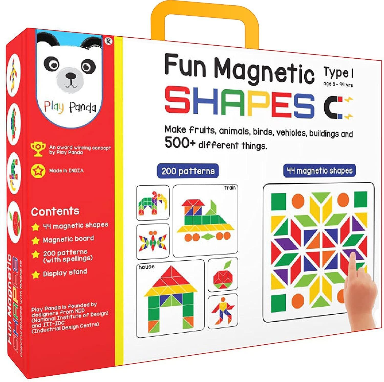 PLAY PANDA Fun Magnetic Shapes (Junior): Type 1