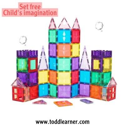Magnetic building blocks toy- Educational STEM Toy-100 Pcs