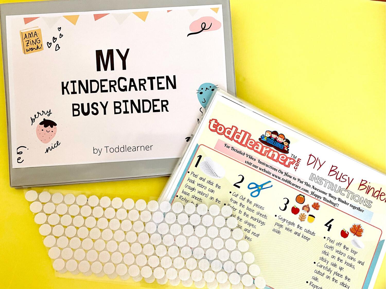 DIY Kindergarten Busy Binder Kit