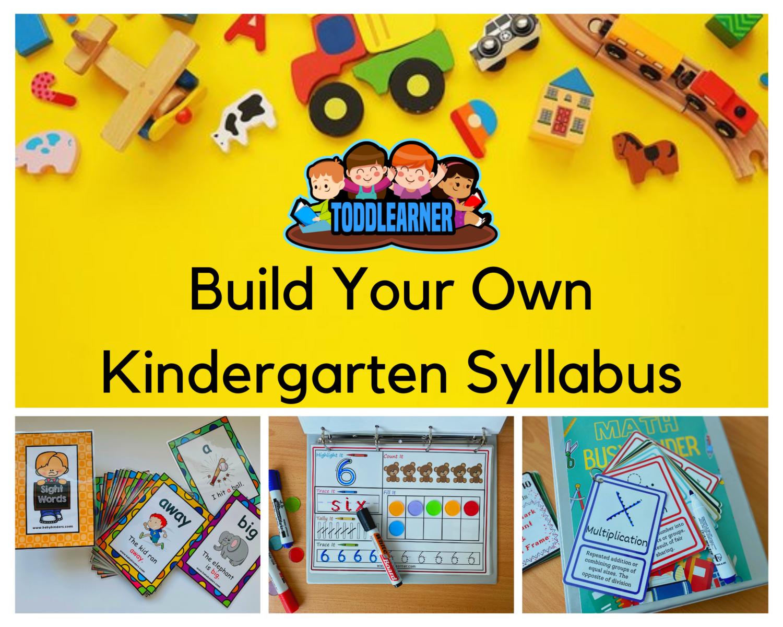Build Your Own Kindergarten Homeschool Syllabus (3 - 5 Years)