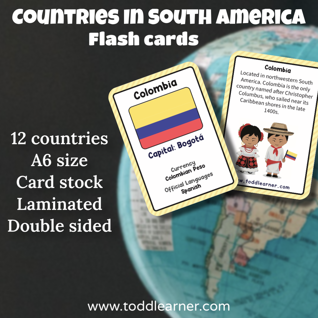 Countries Flash Cards- South America