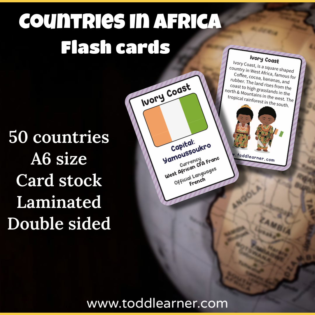Countries Flash Cards - All Continents