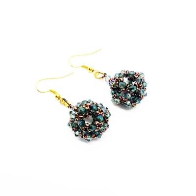 Emerald Ball earrings