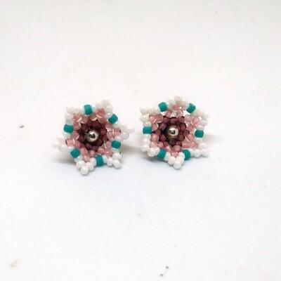 Cherry blossom blooming stud earrings