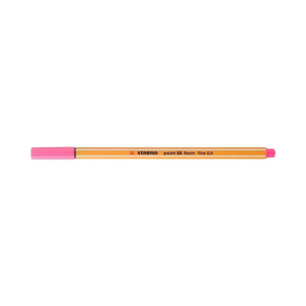 """Stabilo"" Ручка капиллярная 0.4 мм розовый неон 88/056"