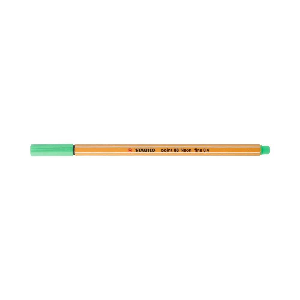 """Stabilo"" Ручка капиллярная 0.4 мм зеленый неон 88/033"