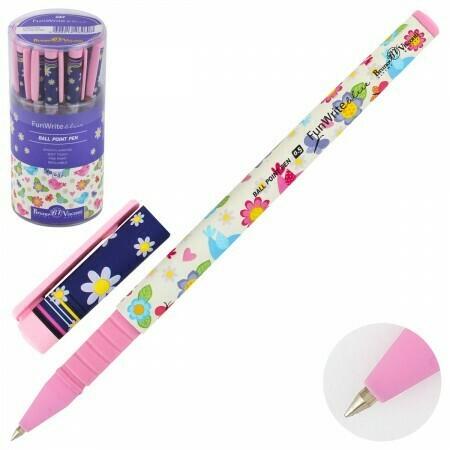 Ручка шариковая FunWrite. Птички, 0.5мм, синяя (20-0212/20)