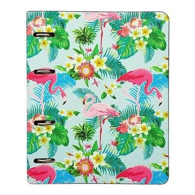 Бизнес-тетрадь Infolio Study Flamingo А5 120 листов разноцветная в клетку на кольцах (175х212 мм)  А 1001804