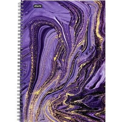 Бизнес-тетрадь Attache Selection Fluid A4 96 листов фиолетовая в клетку на спирали (203х290 мм) А 1061715
