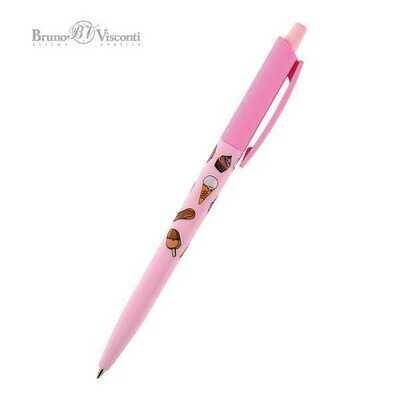 Ручка шариковая автоматическая Bruno Visconti HappyClick Пончики синяя