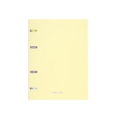 Тетрадь на кольцах А4, 80 листов в клетку ErichKrause Pastel, пластиковая обложка, желтая 50164