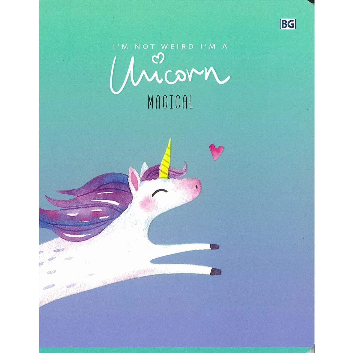 "5ск48_вл 7210 Тетрадь общая А5 скоба 48л. клетка ""My unicorn"""