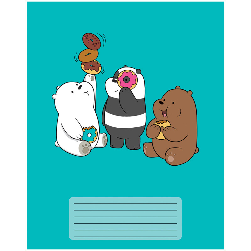 "Тетрадь 12л., клетка Hatber ""We Bare Bears. Вся правда о медведях"" 12Т5В1"
