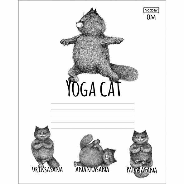 Тетрадь 24л А5ф клетка на скобе скругл.углы серия -Animals Yoga- 24Т5В1