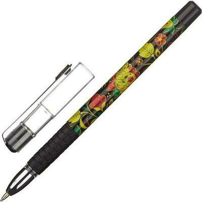 Ручка шариковая Attache Хохлома синяя (толщина линии 0.5 мм) 563869