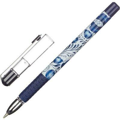 Ручка шариковая Attache Гжель синяя (толщина линии 0.5 мм)