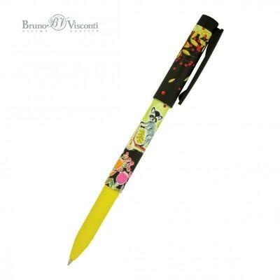 Ручка шар. дет. 0,7 FreshWrite Мультики.Енот на самокате (20-0214/40 син.)