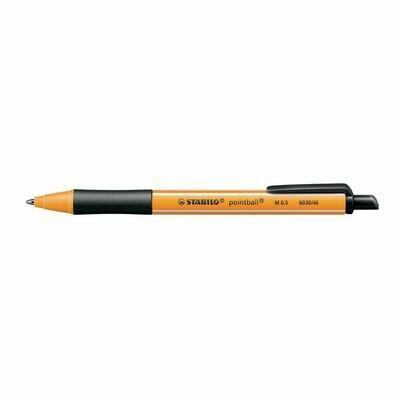 Ручка шариковая автоматическая Stabilo Pointball 6030/46, узел 0.5мм, чернила синие, резиновый упор