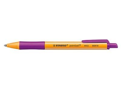 Ручка шариковая автоматическая Stabilo Pointball 6030/58, узел 0.5мм, чернила синие, резиновый упор