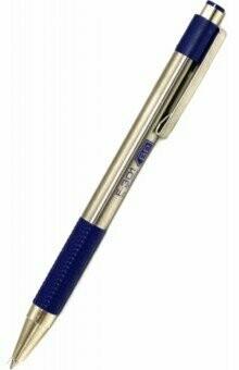 Ручка шариковая Zebra F-301 (F-301 BK) авт. 0.7мм корпус метал. черные/синие чернила