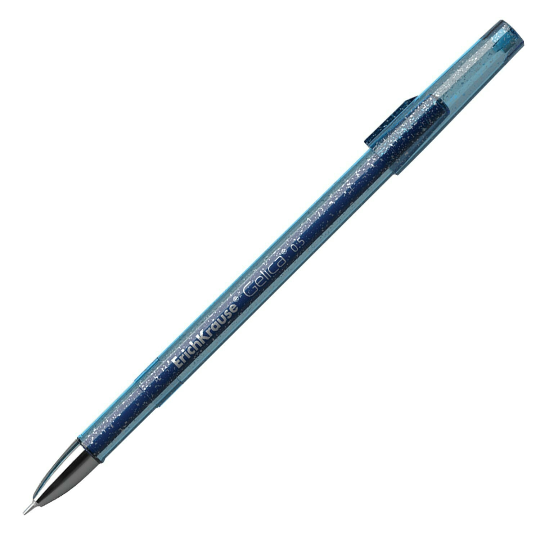 """Ручка гелевая ERICH KRAUSE """"Gelica"""", СИНЯЯ, корпус синий, игольчатый узел 0,5 мм, линия письма 0,4 мм, 45471"""