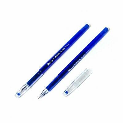 Ручка гелевая, синяя, 0,5мм,