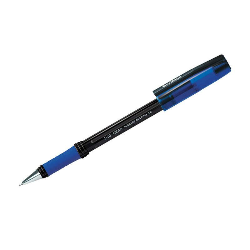 """Ручка шариковая Berlingo """"I-10 Nero"""" синяя, 0,4мм"""