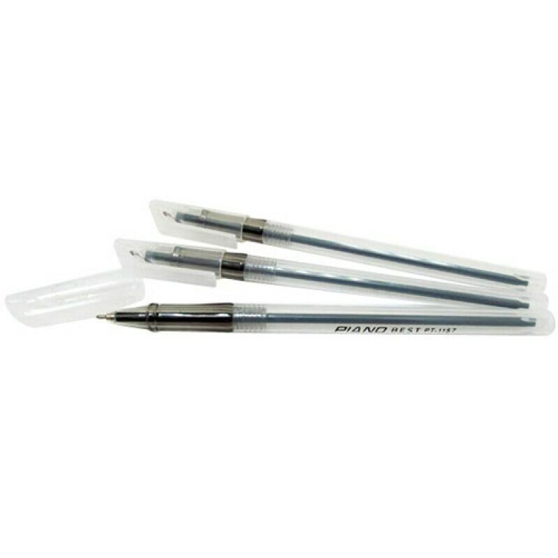 Ручка масл. шарик. PIANO PT-1157 (0.7 мм, Черный)