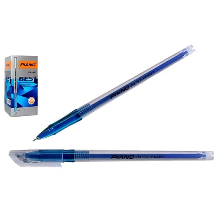 Ручка масл. шарик. PIANO PT-1157 (0.7 мм, Синий) FAIZ
