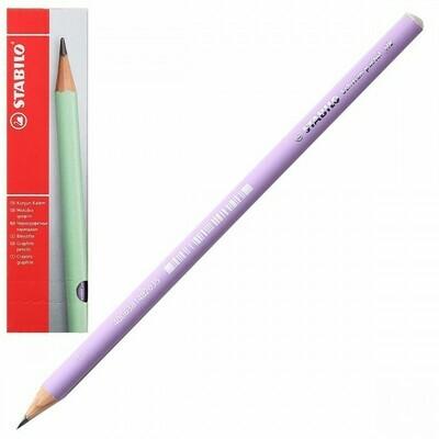 Карандаш НВ деревянный круглый заточенный Stabilo Schwan pastel 421 421/НВ-3 фиолетовый