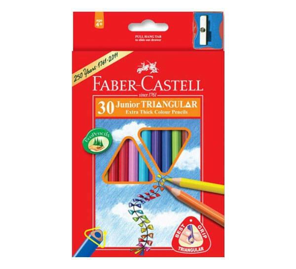 """Набор карандашей цветных Faber-castell """"Junior Grip"""" 30 цв трехгранные в картоне"""