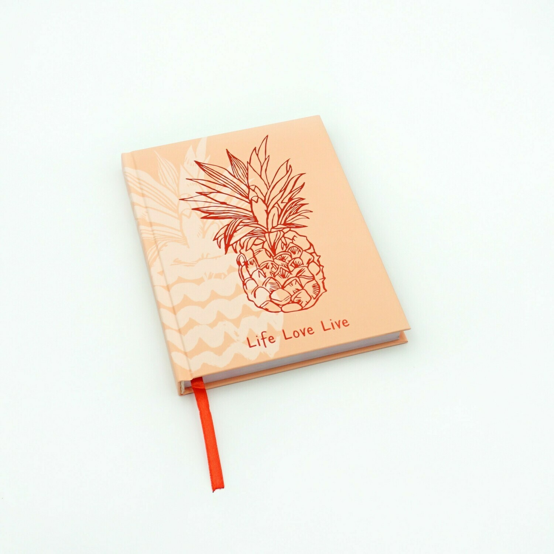 Ежедневник А5- Недат., 112 л.7БЦ, LifeLoveLive. Дизайн 1 ЕЖФ20511201