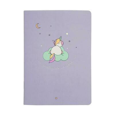 Блокнот А6, 32л, клетка, скрепка, мягк.перепл, 105х140мм Magic Фиолетовый N1437