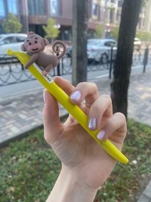 "Ручка AL5903 ""Обезьяна на банане"""