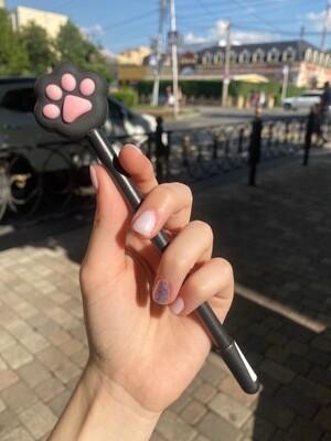 "Ручка шариковая MESHU ""Cute Paws"" синяя, 0,7мм,  корпус ассорти"