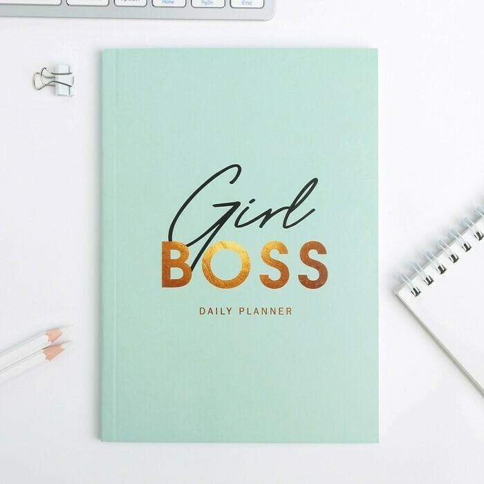 """Ежедневник в тонкой обложке """"Girlboss"""" А5, 80 листов 4640776"""