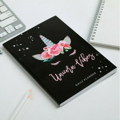 """Ежедневник в тонкой обложке """"Unicorn vibes"""" А5, 80 листов 4640780"""
