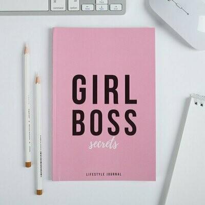 """Ежедневник внутрянка в точку """"Girl Boss"""", 64 листа 4690351"""