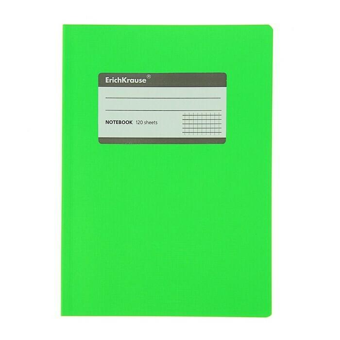 Тетрадь общая c титульной этикеткой А5, FLUOR, 120 листов, клетка 31479