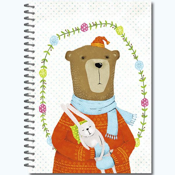 """Блокнот-скетчбук Sketchbook 60 л. А5, офсет 100г/м2, жстк. крыш. """"Портреты Звериков"""""""