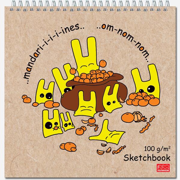 Блокнот для зарисовок SKETCHBOOK QUADRO  формат 170х170 60 лист. гребень 2352